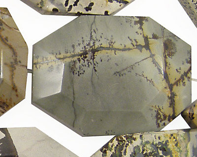 Artistic Stone Faceted Flat Slab 35-40x25-30mm