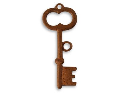 Vintaj Artisan Copper Archival Key Pendant 33x14mm