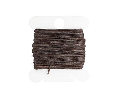 Dark Chocolate Irish Waxed Linen 3 ply