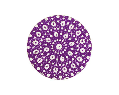 Lillypilly Purple Crochet Anodized Aluminum Disc 25mm, 24 gauge