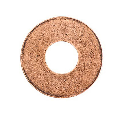 Nunn Design Antique Copper (plated) Grande Circle Flat Tag Washer 31mm