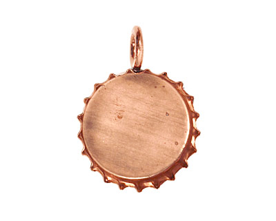 Copper Bottle Cap Bezel 30mm