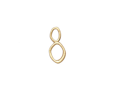 Amoracast 14K Gold (plated) Sterling Silver Abstract Oval Link 15x7mm