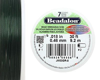 Beadalon Green .018