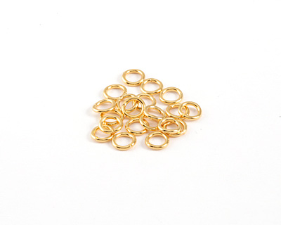 Gold (plated) Soldered Jump Ring 6mm, 18 gauge
