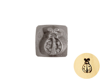 Lady Bug Metal Stamp 5mm