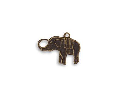 Vintaj Natural Brass Charmed Elephant 12x16mm