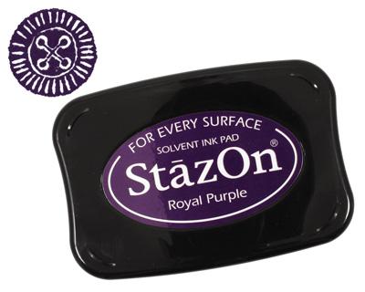StazOn Royal Purple Solvent Ink Pad