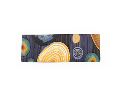 Humble Beads Polymer Clay Van Gogh's Starry Night 6 Hole Cuff 11-12x34-35mm