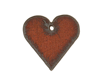 The Lipstick Ranch Rusted Iron Small Heart Pendant 25mm