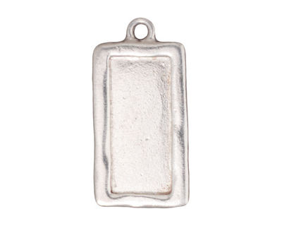 TierraCast Rhodium (plated) Rectangle Frame Drop 15x31mm