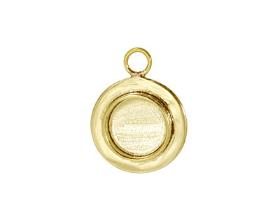 Brass Lipped Circle Bezel 18mm