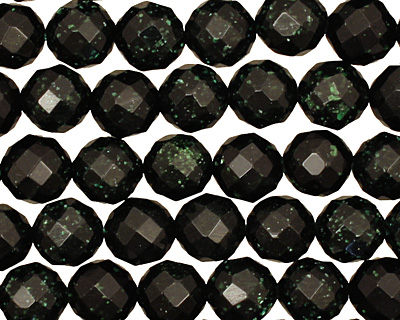Green Goldstone Faceted Round 8mm