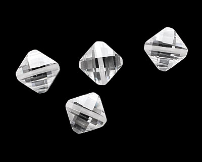 Crystal Clear Faceted Diamond 10mm