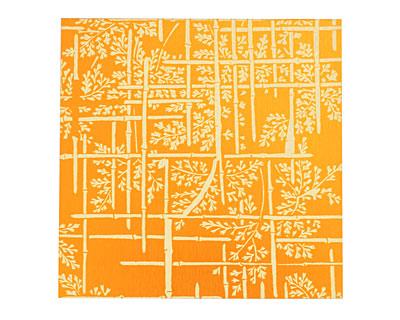 Lillypilly Orange Bamboo Anodized Aluminum Sheet 3
