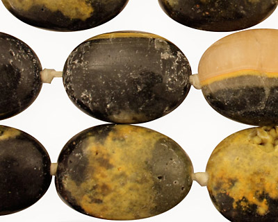 Mexican Sunflower Agate Tumbled Oval Nugget 22-28x16-20mm