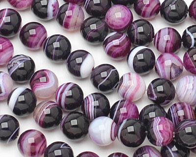 Purple Line Agate Round 12mm