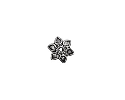 Pewter Pointed Bead Cap 3x10mm