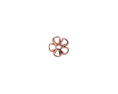 Nunn Design Antique Copper (plated) 6mm Open Daisy Bead Cap 3x7mm