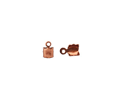 Antique Copper (plated) 4mm Rhinestone Chain End Connector