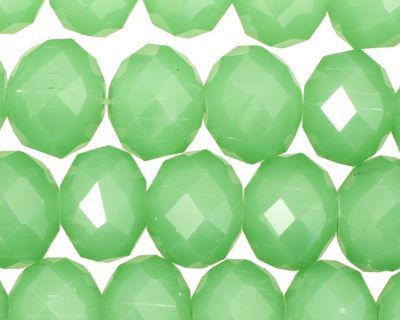 Green Opal Crystal Faceted Rondelle 14mm