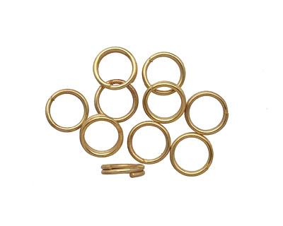 Satin Hamilton Gold (plated) Split Jump Ring 7mm, 21 gauge