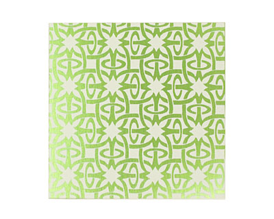Lillypilly Lime Green Starburst Anodized Aluminum Sheet 3