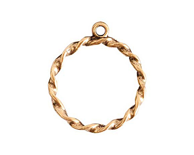 Nunn Design Antique Gold (plated) Rope Connector 23x27mm