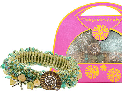 Glass Garden Seashore Caterpillar Bracelet Kit
