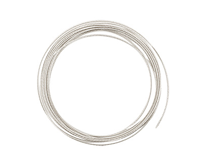 German Style Wire Silver (plated) Fancy Round 20 gauge, 3 meters