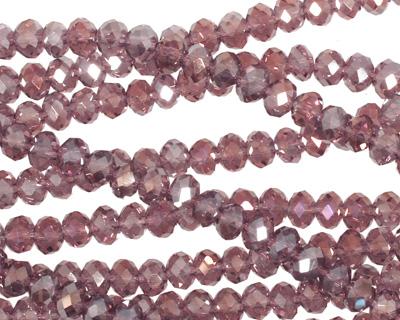 Vintage Lavender AB Crystal Faceted Rondelle 4mm