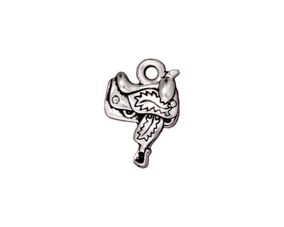 TierraCast Antique Silver (plated) Saddle Charm 12x17mm