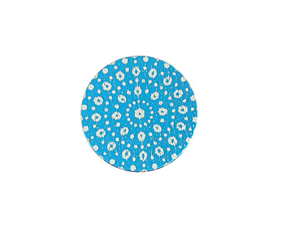 Lillypilly Turquoise Crochet Anodized Aluminum Disc 19mm, 24 gauge