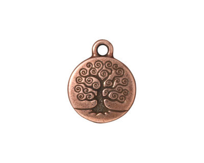 TierraCast Antique Copper (plated) Tree of Life Charm 15x19mm