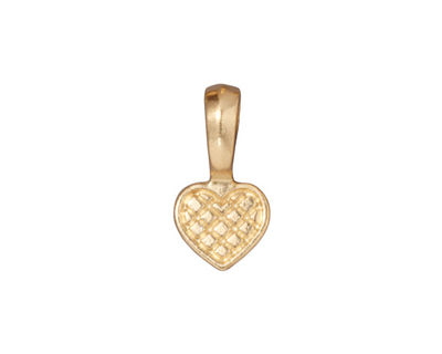 TierraCast Gold (plated) Heart Bail Glue Pad 10x19mm