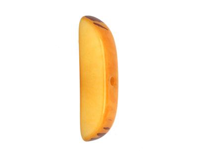 Tagua Nut Gold Splinter (center-drilled) 7-8x28-35mm