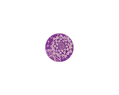 Lillypilly Purple Dahlia Anodized Aluminum Disc 11mm, 24 gauge