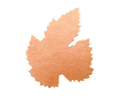 Copper Grape Leaf Blank 41x52mm