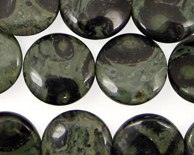 Kambaba Jasper Puff Coin 16mm
