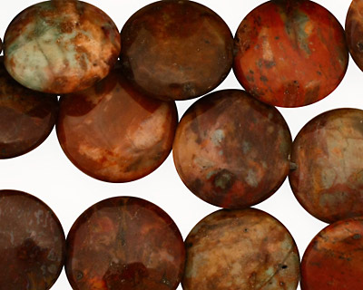 African Rainbow Agate Puff Coin 15mm