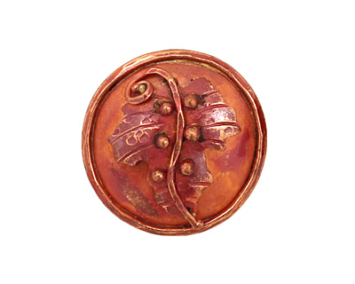 Patricia Healey Copper Leaf Button 24mm