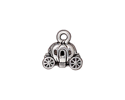 TierraCast Antique Silver (plated) Carriage Charm 15x14mm