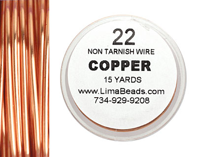 Parawire Non-Tarnish Copper 22 gauge, 15 yards