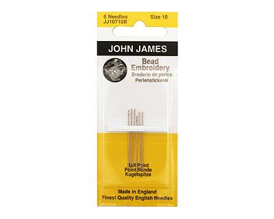 John James Size 10 English Ball Point Bead Embroidery Needles