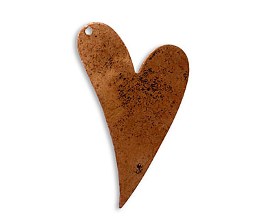 Vintaj Artisan Copper Artisan Heart Altered Blank 25x40mm