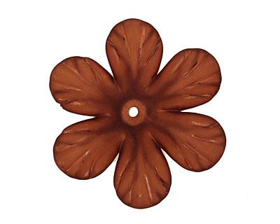 Lucite Espresso Clematis Flower 8x30mm
