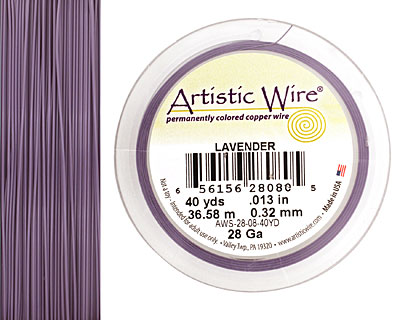 Artistic Wire Lavender 28 gauge, 40 yards