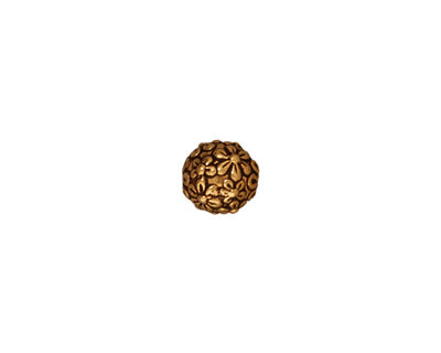 TierraCast Antique Gold (plated) Floral Round 8mm