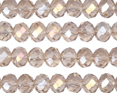 Champagne AB Crystal Faceted Rondelle 8mm
