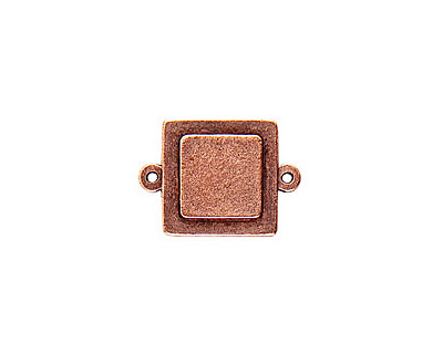 Nunn Design Antique Copper (plated) Raised Tag Mini Square Connector 25x18m